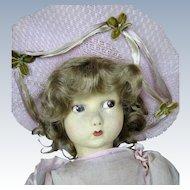 Vintage Lenci Felt Boudoir Doll