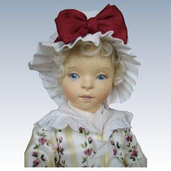 """R J Wright """"Martha Washington"""" Cloth Felt UFDC Artist Doll"""