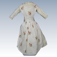 Antique Dress with Apron for China or Papier-mache Head Doll