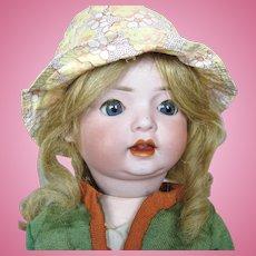 """17"""" Antique German Schoenau Hoffmeister Bisque Head Doll"""