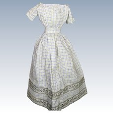 Lovely Antique Skirt and Blouse for Early China or Papier-mache Doll