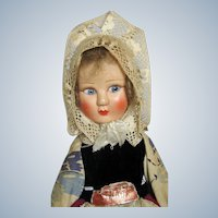 French La Petite Mask Face Cloth Doll