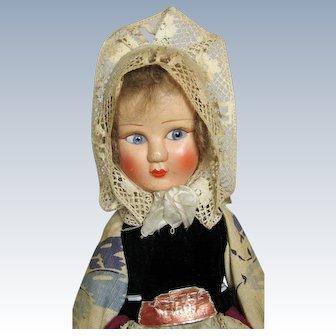 French La Petite Mask Face Cloth Doll