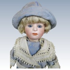 """Adorable 11"""" Gebruder Heubach Glass Eyed Pouty Mold 7246"""