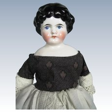 """Antique 10"""" Kling Marked China Head German Doll"""