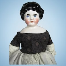 "Antique 10"" Kling Marked China Head German Doll"