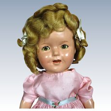 """1930s 13"""" Composition Ideal Shirley Temple Doll"""