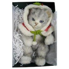 R John Wright Snowball Christmas Kitten 2013 ~ HTF!