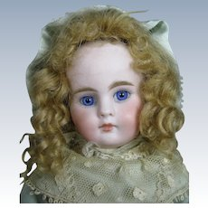 """10"""" Antique Closed Mouth Belton Bisque Head Doll"""