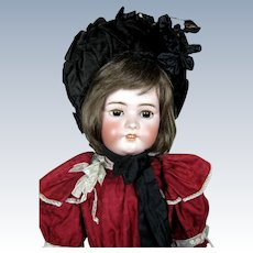 "Gorgeous 29"" Simon Halbig German Bisque Head Doll"