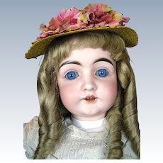 """Antique 29"""" German Kestner 146 Mold Bisque Socket Head Doll"""