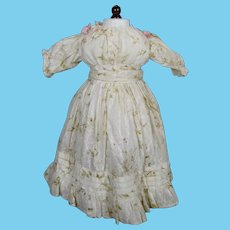 Antique French or German Bebe Doll Dress