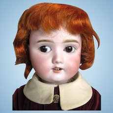 Adorable Antique German Bisque Head Composition Body Boy Doll