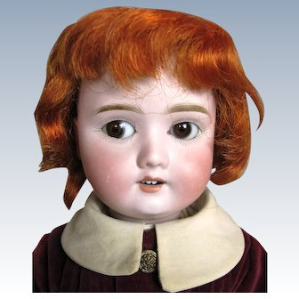 Adorable Antique German Bisque Head Composition Body Boy Doll