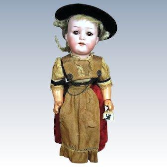 A/O Heubach  Koppelsdorf 312 Child Doll, Tagged Dress Muller Swiss