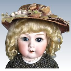 "Antique 20"" German Gebruder Heubach Bisque Head Doll 10633 Mold"