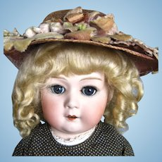 "Antique 20"" German Gebruder Heubach Bisque Head Doll 10633 Mold"