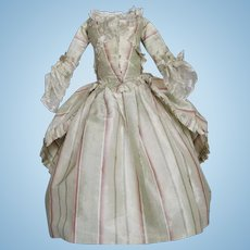 Stunning Silk French Fashion Doll Dress Skirt Bodice Ensemble