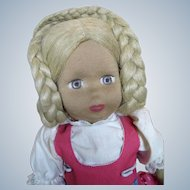 "Vintage 18"" Cloth Stockinette Doll"