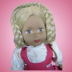 "Vintage 18"" Cloth Stockinette Doll"
