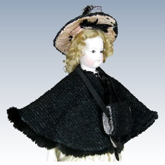 Antique French Fashion Doll Ensemble ~ Cape, Muff and Hat