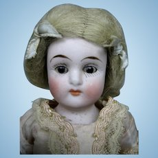 "7"" German Antique All Bisque Doll ~ So cute!"