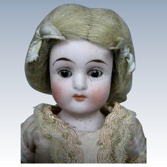 "7"" German Antique All Bisque Doll ~ So cute!"