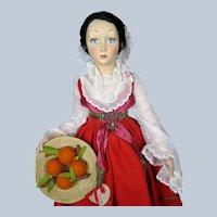 "Stunning Lenci ""Piana Dei Greci Sicilia"" Boudoir Doll Series 165 Superb Example!"