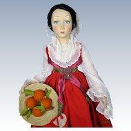 """Rare Lenci """"Piana Dei Greci Sicilia"""" Boudoir Doll Series 165 Excellent!"""