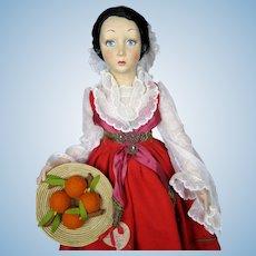"Stunning Lenci ""Piana Dei Greci Sicilia"" Boudoir Doll Series 165 Excellent!"