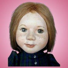 OOAK Artist Oil Painted Cloth Doll