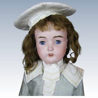 """Antique 27"""" German Kestner Bisque Socket Head Doll"""