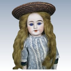 """Antique 19"""" German Bisque Head Mystery Doll"""