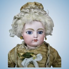 "Antique 13"" F.G. Gaultier French Bebe Doll Block Letter"
