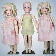 Antique German Cuno Otto Dressel Bisque Head Doll with Slim Body