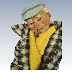 "French 13"" Bernard Ravca Stockinette Cloth Doll"