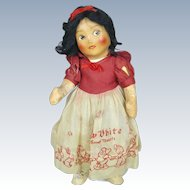 Walt Disney 1938 Cloth Snow White Doll by Krueger