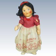 Walt Disney 1938 Cloth Snow White Doll by Krueger