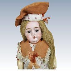 "Gorgeous 13"" Kestner 143 Character Doll ~ Factory Original Dress & Hat"