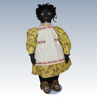 Vintage 1930s Black Americana Cloth Doll