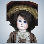 """Antique 9"""" German Belton Closed Mouth Bisque Head Doll"""