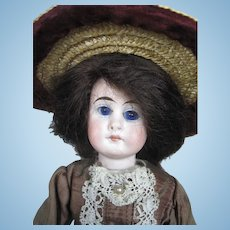 "Antique 9"" German Belton Closed Mouth Bisque Head Doll"