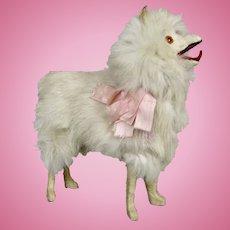 Antique Fur Samoyed Spitz Salon Dog for Your French Fashion Doll