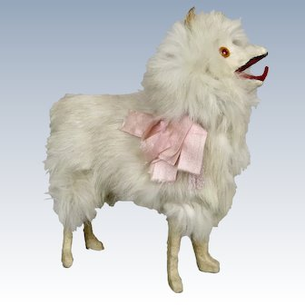 Antique Fur Samoyed Spitz Salon Dog for Your French Fashion Doll