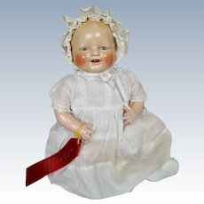 1920s 30s Horsman Composition Baby Dimples Doll ~ Original Clothing