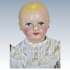 "Huge 26"" Martha Chase Antique Stockinette Baby Doll"
