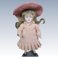 "Antique 4 1/2"" Kestner All Bisque 130 Mold Doll House Doll"