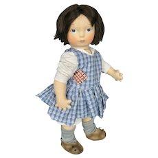 Haut Melton Artist Felt Doll Ragsy  ~ Based on Rose O'Neill Kewpie Illustrations