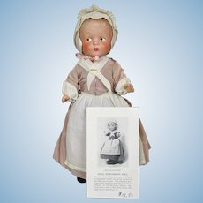 Rare Moravian Church Anna Nitschmann Composition Doll