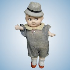 "Antique 6"" German Papier-mache Googly Doll"